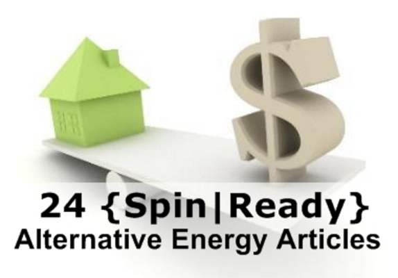 Pay for 24 Alternative Energy Spin-Ready Articles