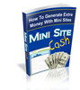 Thumbnail Mini Site Cash-How To Generate Extra Money With Mini Sites+B