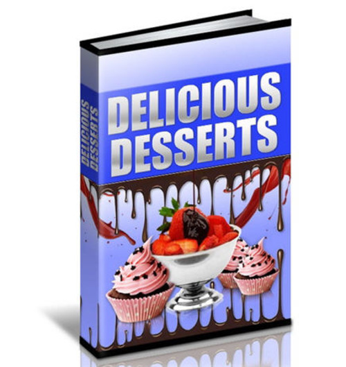 Pay for Delicious Desserts CookBook - 453 Pages eBook