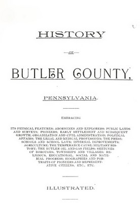 Pay for Genealogy Butler County, Pa, Penn History