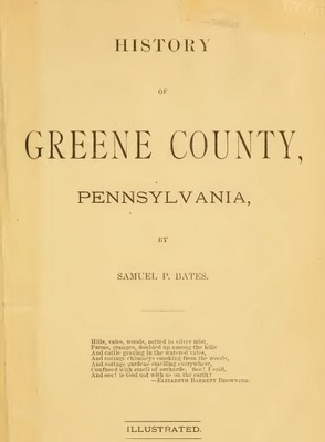 Pay for Genealogy Greene County, Pa, Penn History Pennsylvania