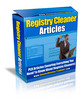 Thumbnail Registry Cleaner PLR Articles - Very High Quality!