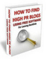 Thumbnail How To Find High PR Blogs
