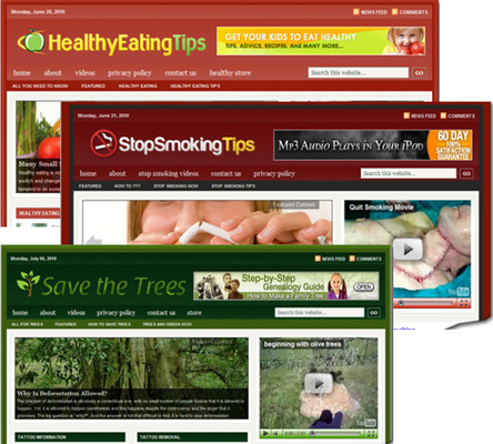 Pay for 3 Niche Blogs (Healthy Eating, Smoking & Trees)