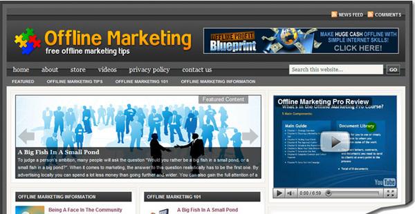 Pay for Offline Marketing Niche Blog Site