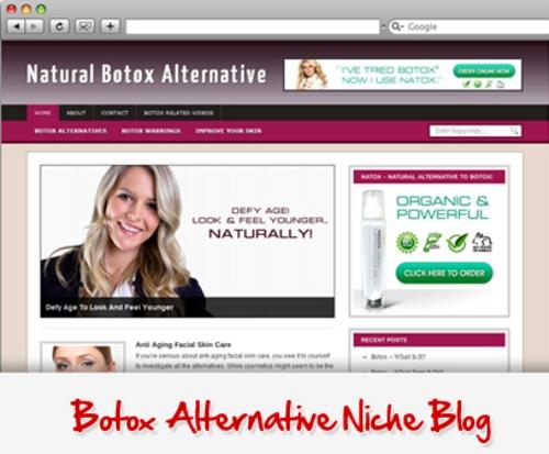 Pay for Botox Alternative Niche Blog