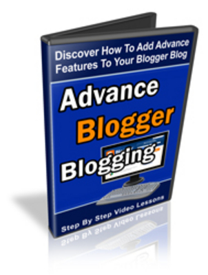 Pay for Advanced Blogger Blogging Video Series