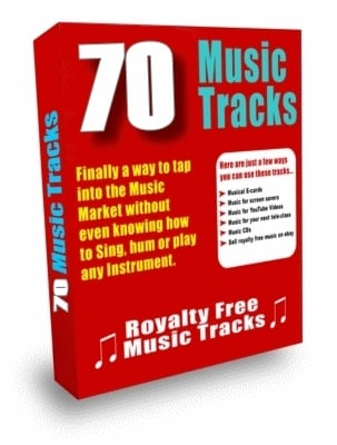 Pay for ***70 Royalty Free Music Tracks Package (PLR)***