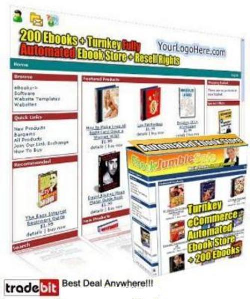 Pay for  Ebook Store With Resale Rights