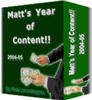 Thumbnail Matt's Year of Content - with FULL PLR + Mystery BONUS!