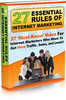 Thumbnail 27 Essential Rules of Internet Marketing - MRR + 2 BONUSES!