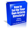 Thumbnail How to Set Up Your Own Article Directory - with MRR+ BONUSES