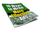 Thumbnail 10 Ways to Write More Effective Ads - PLR+2 Mystery BONUSES!