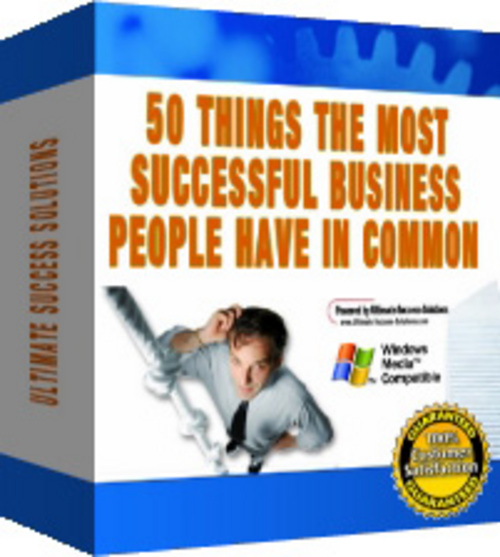 Pay for 50 Things Most Successful Business People Have! (with PLR)
