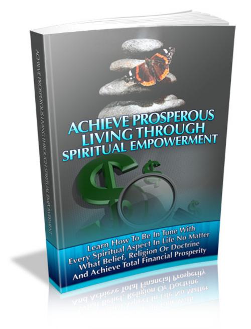 Pay for Achieve Prosperous Living Through Spiritual Empowerment(PLR)