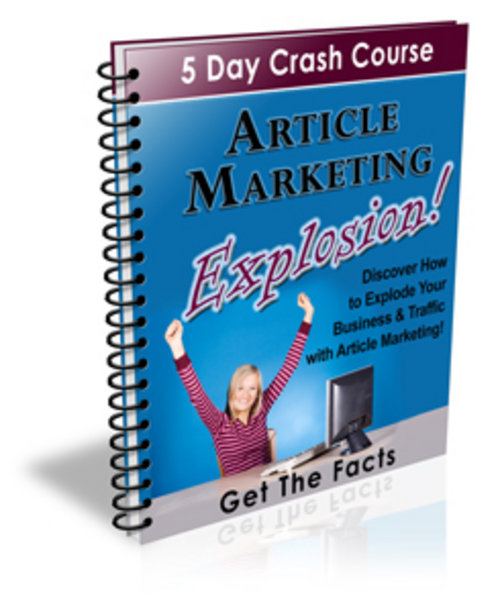 Pay for Article Marketing Explosion Crash Course - with PLR + BONUS!