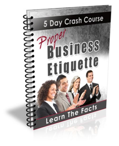 Pay for Business Etiquette Crash Course - with PLR + BONUS!