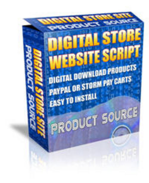 Pay for Digital Store Script - Master Resell Rights + MYSTERY BONUS!