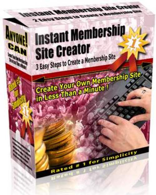 Pay for Instant Membership Site Creator - with Master Resell Rights!