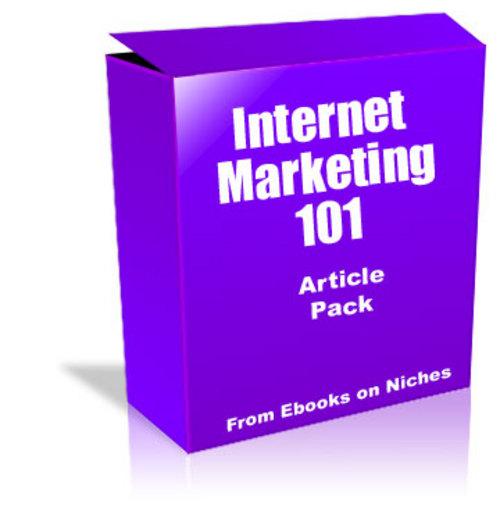 Pay for Internet Marketing 101 Article Pack - with FULL PLR + BONUS!