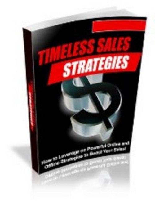 Pay for Timeless Sales Strategies - with FULL PLR + BONUS!