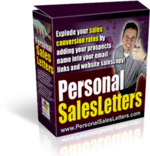 Pay for Salesletter Personalizer - with Master Resell Rights+BONUS