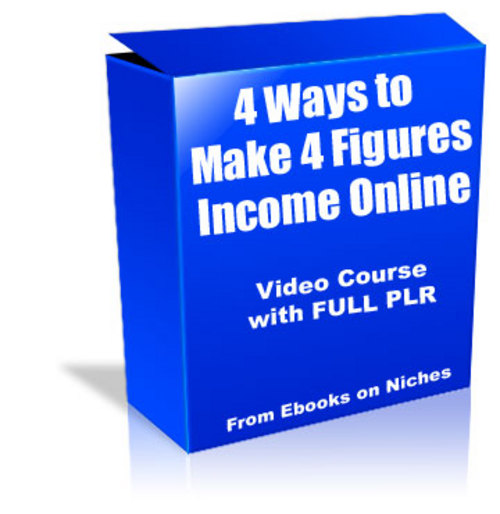 Pay for 4 Ways to Make 4 Figures - with FULL PLR + 2 BONUSES!