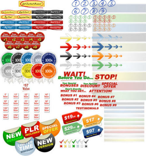 Pay for Internet Marketing Graphics Pack V2 + 2 Mystery BONUSES!