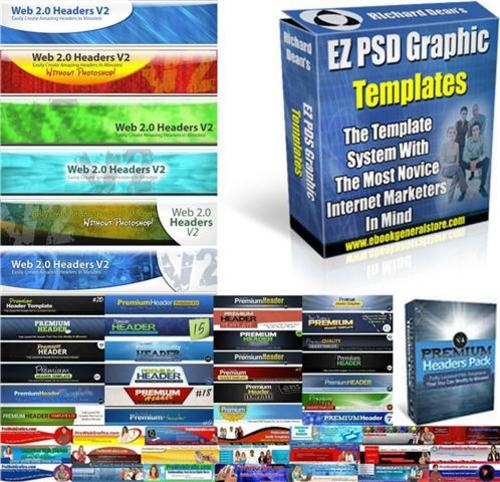 Pay for Ultimate Header Graphics Pack + 2 Mystery BONUSES!