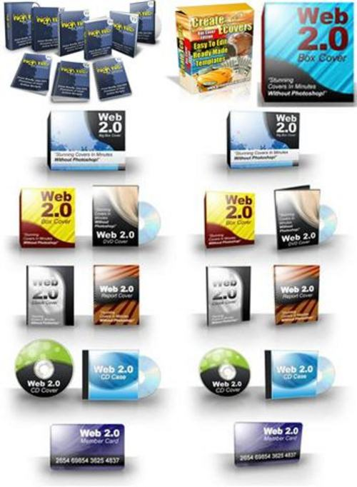 Pay for Ultimate E-cover Templates Pack + 2 Mystery BONUSES!