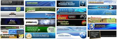 Pay for 25 Premium Headers Pack2 - with 2 Mystery BONUSES!