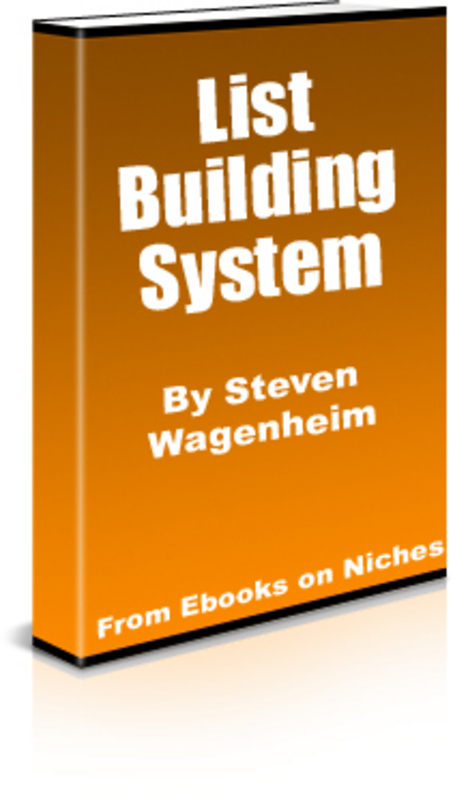 Pay for Steven Wagenheim´s List Building System+2 Mystery BONUSES!