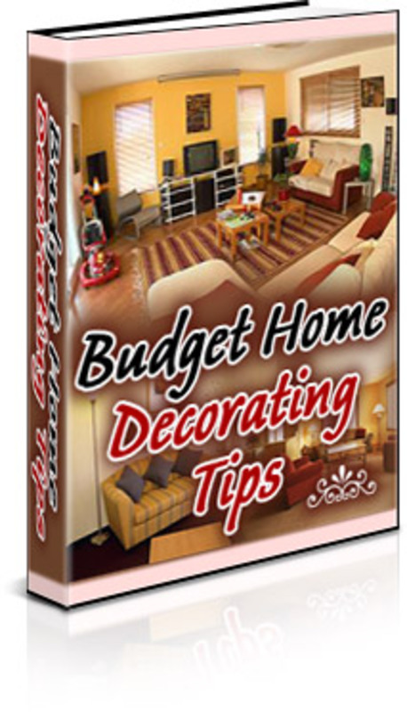 Pay for Budget Home Decorating Tips - with PLR + 2 Mystery BONUSES!