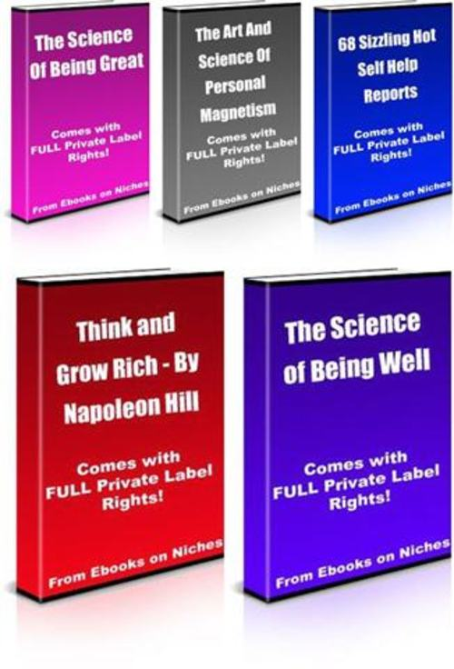 Pay for Self Improvement Mega Pack - Private Label Rights+2 BONUSES!
