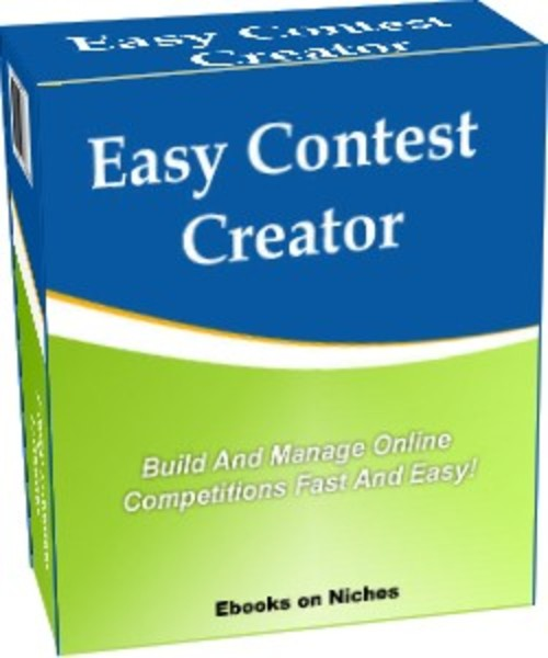 Simple Book Cover Generator ~ Easy contest creator build manage online contests