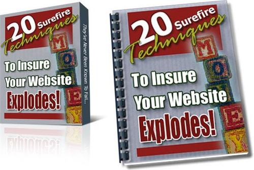 Pay for 20 Surefire Techniques To Make Your Website Explode-with PLR