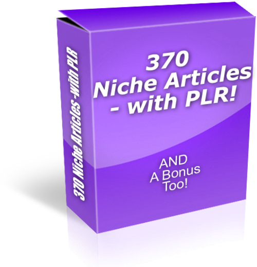 Pay for 370 Articles on 52 Niches - with PLR + 2 MYSTERY BONUSES!