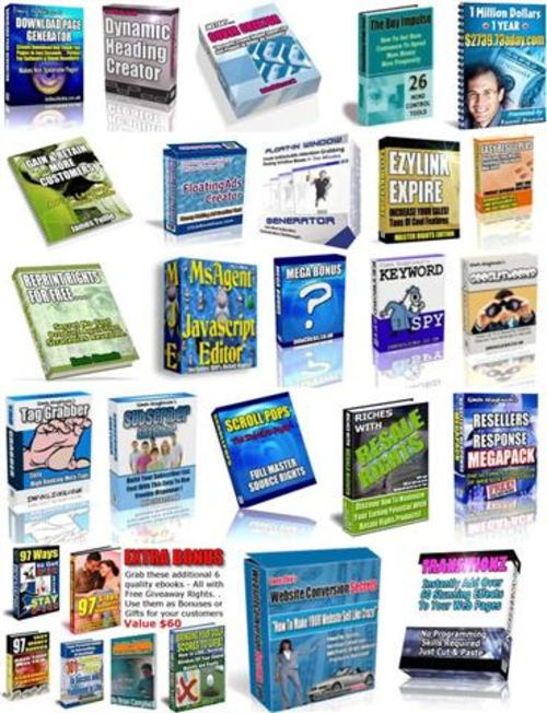 Pay for 16 HOT Ebooks and Softwares - with MRR + 2 Mystery BONUSES!