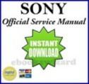 Thumbnail Sony KDL 40Z4100 + KDL 46Z4100 LCD TV Reparaturanleitung Handbuch