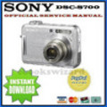 Thumbnail SONY CYBER SHOT DSC-S700 SERVICE & REPAIR MANUAL