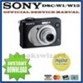 Thumbnail SONY CYBER SHOT DSC-W1 / W12 SERVICE & REPAIR MANUAL