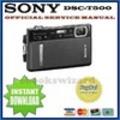 Thumbnail SONY CYBER SHOT DSC-T500 DIGITALKAMERA REPARATURANLEITUNG