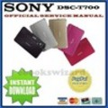 Thumbnail SONY CYBER SHOT DSC-T700 DIGITALKAMERA REPARATURANLEITUNG