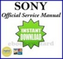 Thumbnail SONY DCR DVD92 /92E/103/602/602E/653/653E SERVICE & REPAIR MANUAL