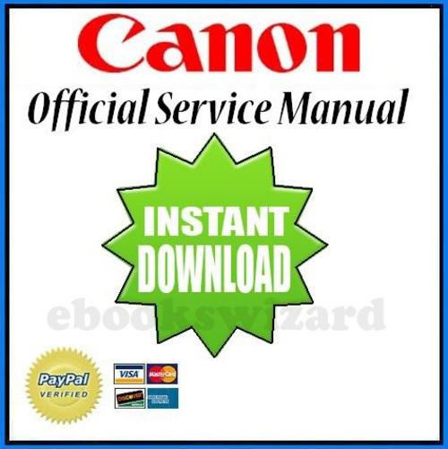 CANON EOS 1V (1 V ) CAMERA SERVICE & REPAIR MANUAL