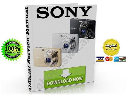 Pay for Sony Cyber Shot DSC WX1 Service Manual & Repair Guide Download