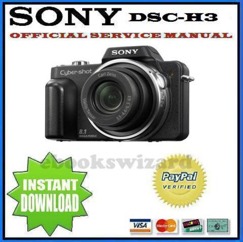 SONY CYBER SHOT DSC-H3 SERVICE & REPAIR MANUAL