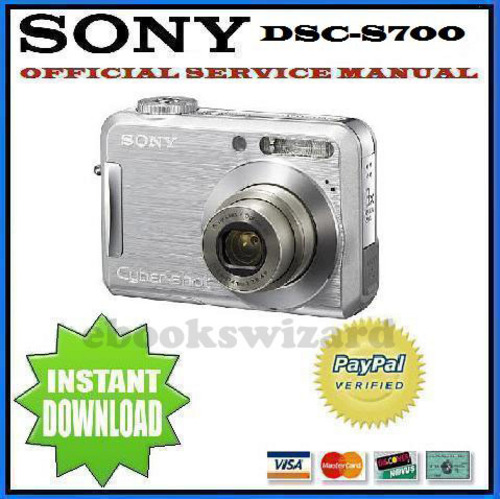 Pay for SONY CYBER SHOT DSC-S700 SERVICE & REPAIR MANUAL