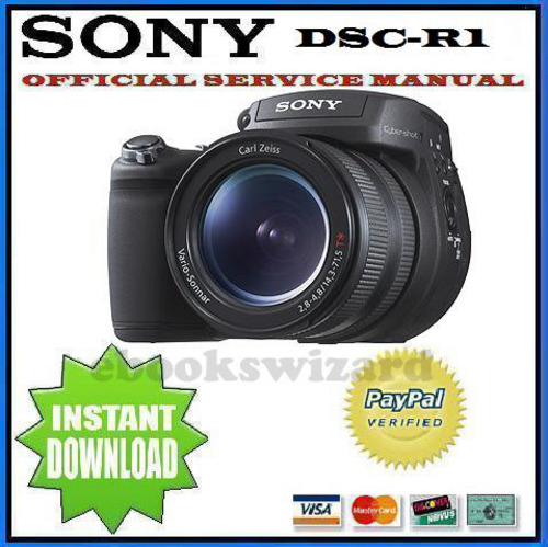 Pay for SONY CYBER SHOT DSC-R1 SERVICE & REPAIR MANUAL