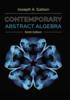 Thumbnail Contemporary Abstract Algebra 9th Edition